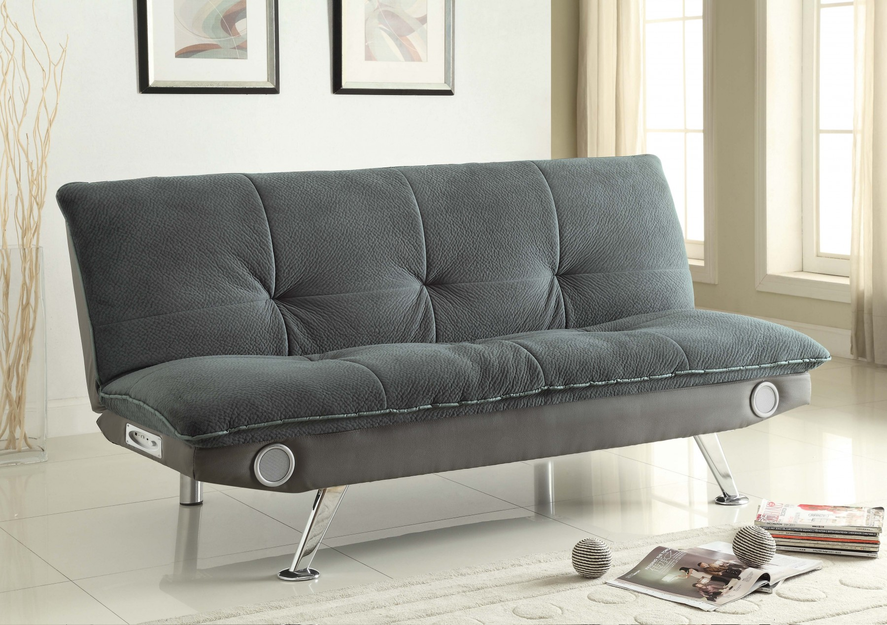 Braxton Grey Sofa Bed With Bluetooth Connectivity Marjen Of
