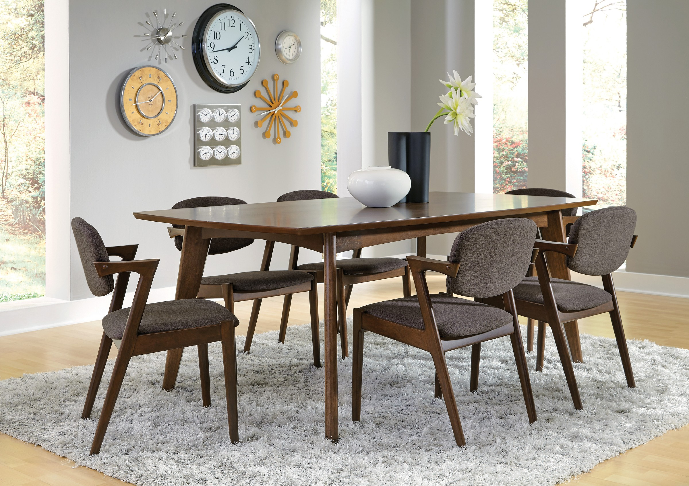 With An Exciting, Mid Century Modern Design, The Malone Collection Sarah 7 Piece  Dining Set Will Make A Bold Statement In Your Contemporary Dining Room.