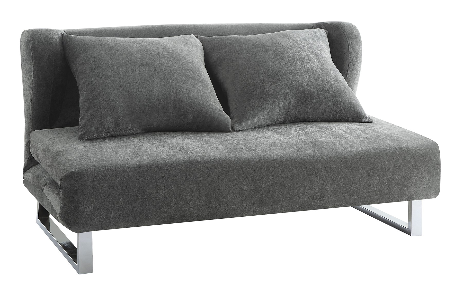 CONTEMPORARY GREY SOFA BED Converts From Sofa To Chaise Lounge Sofa To  Queen Bed