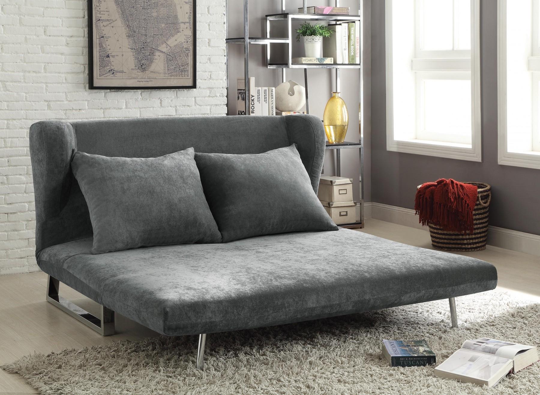 Grey Velvet Chaise