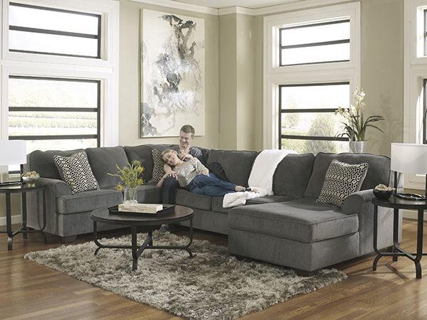 gold and sectional smoke piece w ashley loric living by room chaise com gray shenellesblog