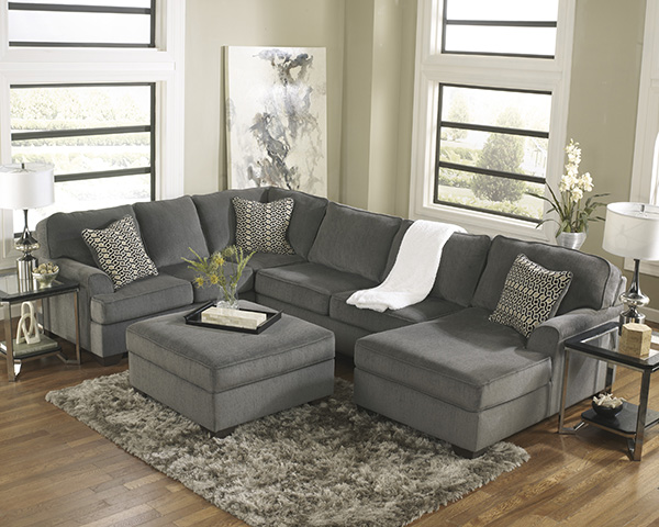 Loric Smoke Sectional Regular Price On Special Now - Marjen furniture