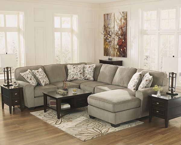 Patola Park Patina Chaise Sectional Set Marjen Of Chicago Chicago Discount Furniture