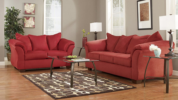 Darcy Salsa Sofa And Loveseat Set Marjen Of Chicago