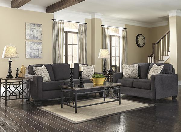 Alenya Charcoal Sofa By Signature Design Marjen Of