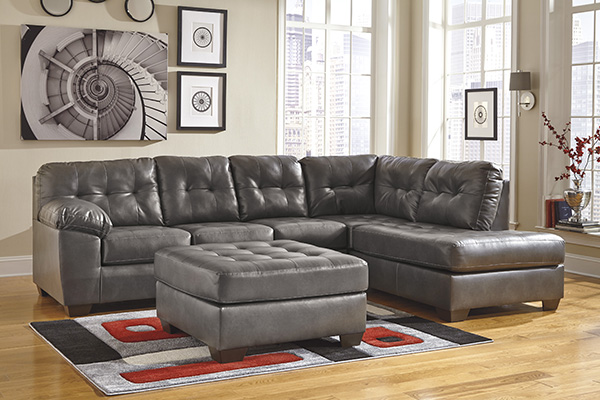 Alliston Durablend Gray Sectional Collection Marjen Of Chicago Chicago Discount Furniture