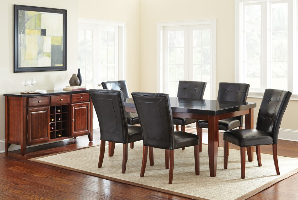 Granite bello dining room set lowest price guaranteed marjen of chicago chicago discount - Dining room furniture chicago ...