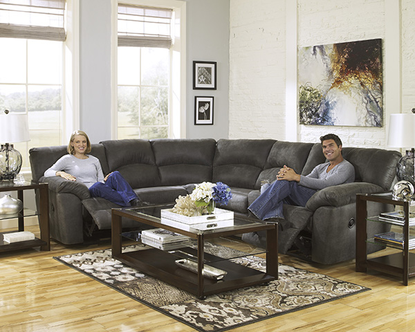 Tambo Pewter Reclining Sectional Set Marjen Of Chicago