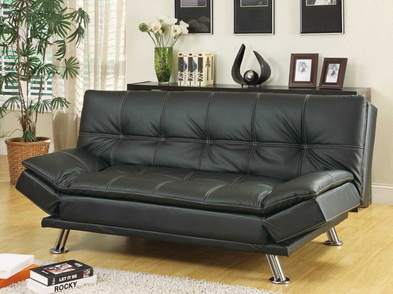 Magnificent Sofa Bed Black With Available Matching Chaise And Storage Squirreltailoven Fun Painted Chair Ideas Images Squirreltailovenorg