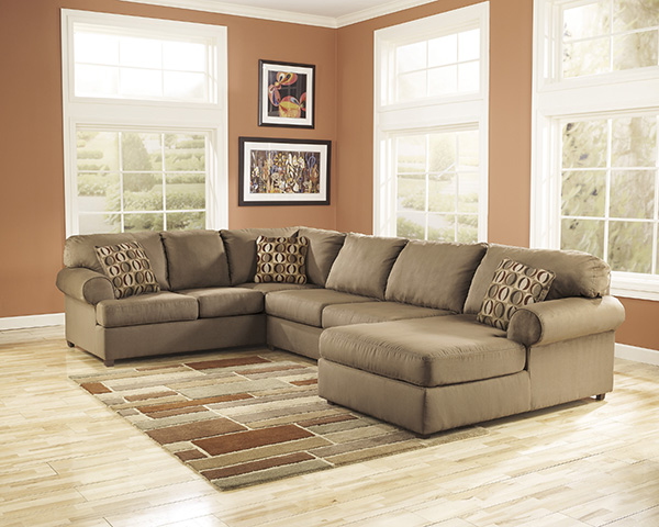 Cowan mocha sectional hot buy price immediate free delivery marjen of chicago chicago for Living room furniture stores in ct