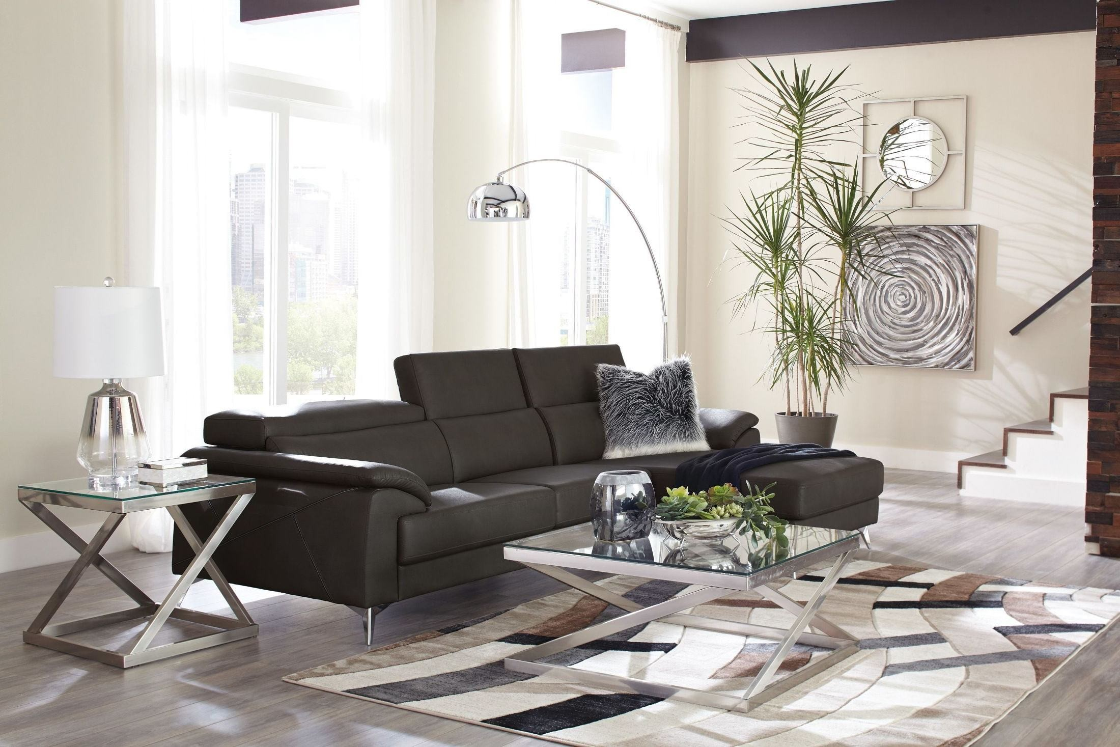 Tindell Gray 2 Piece Sectional Free Delivery Marjen Of