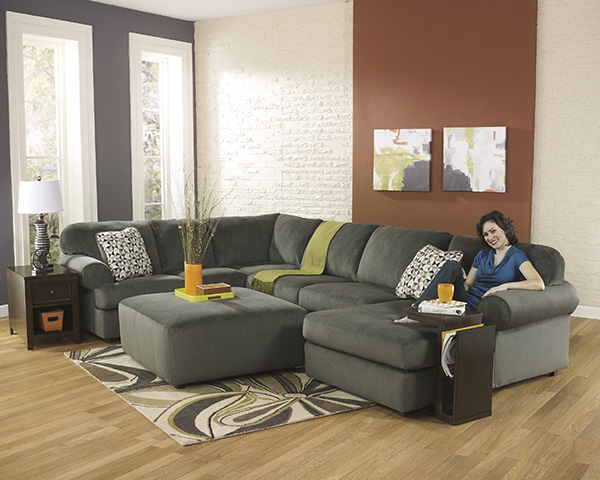 Jessa Place Pewter Sectional Marjen Of Chicago