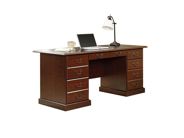 Warm Cherry Executive Desk Home Office Collection: Sauder 402159 Heritage Hill Executive Desk In Classic