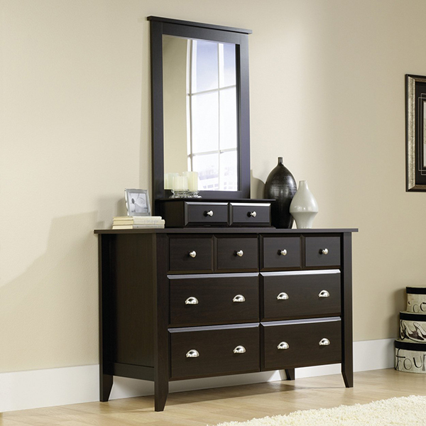 Classic And Warm, The Sauder Shoal Creek Dresser Jamocha Wood Is An  Exquisite Addition To Any Home. Featuring Two Smaller Upper Drawers And  Four Extra Deep ...