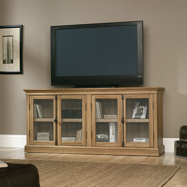 Sauder Barrister Lane Storage Credenza Tv Stand Salt Oak