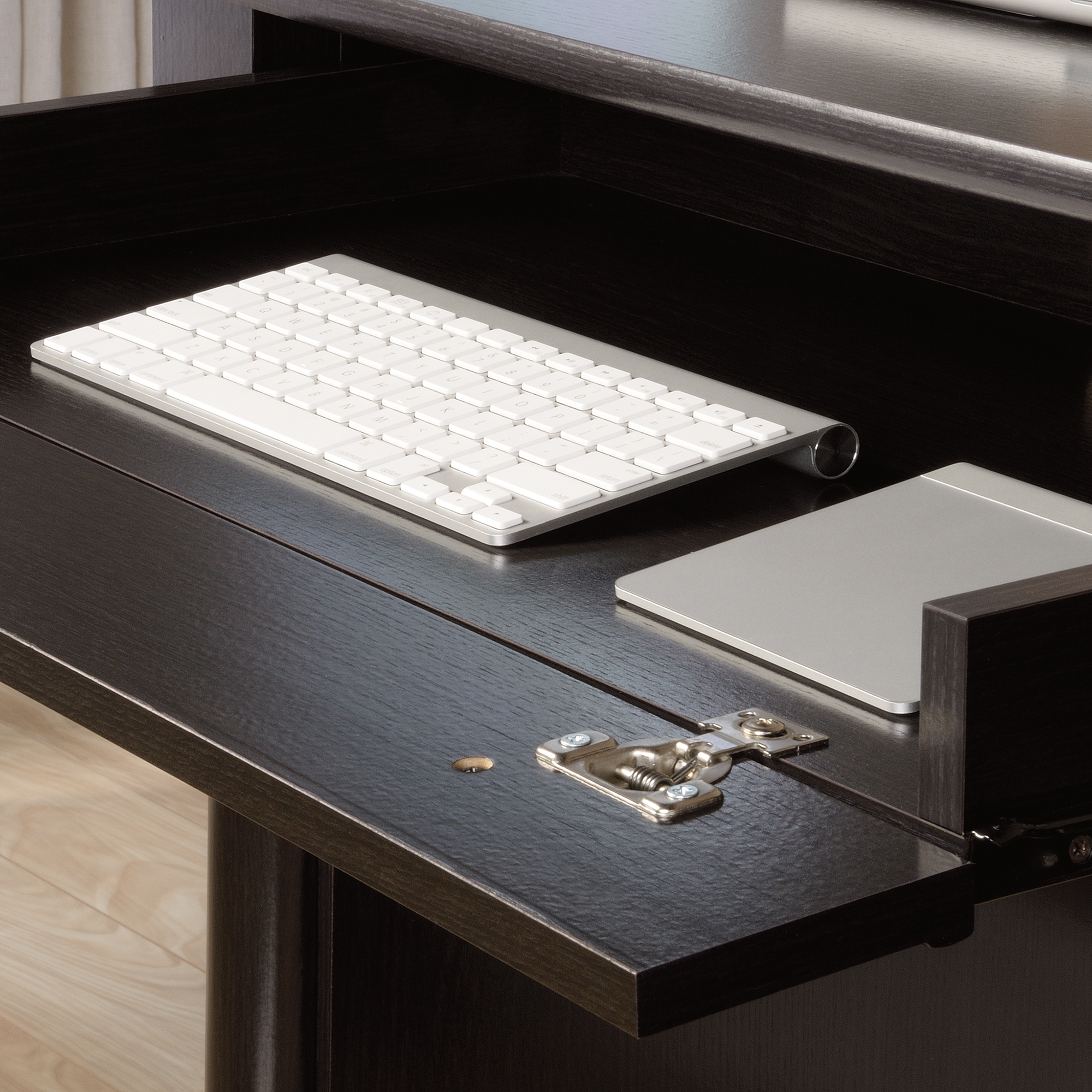 Lower Drawer With Full Extension Slides Holds Letter Size Files Large Shelf Features Flip Down Panel For