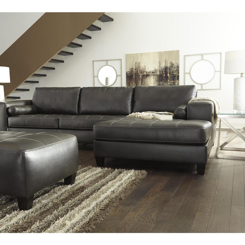 Nokomis Charcoal Right Or Left Chaise Sectional W Sleeper