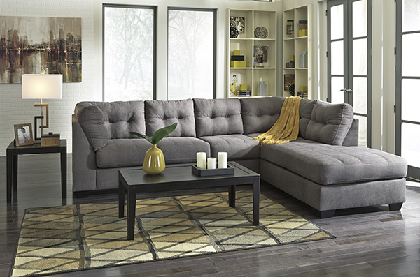 Maier Charcoal Sectional Marjen Of Chicago Chicago