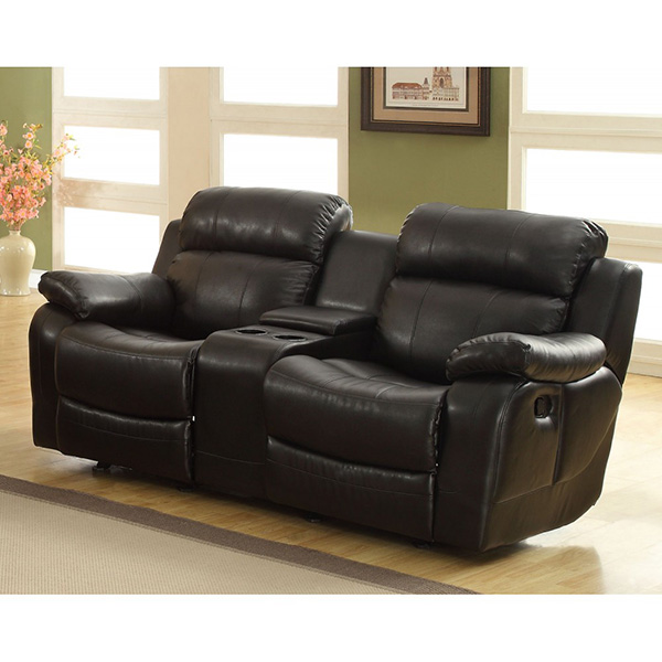 ... stretch of the reclining sofa or soothing rock of the reclining chair your comfort is taken care of in the Marille Collection. Drop-down cup holders ...  sc 1 st  Marjen of Chicago & Homelegance Marille Double Reclining Sofa w/ Center Drop-Down Cup ... islam-shia.org