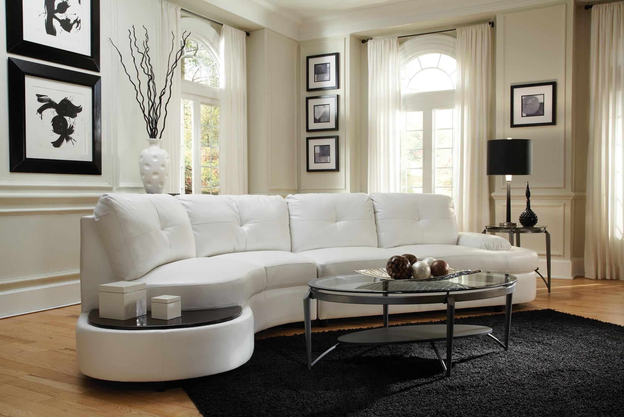 Talia Bonded Leather Coil Seating Sectional FREE DELIVERY! | Marjen ...