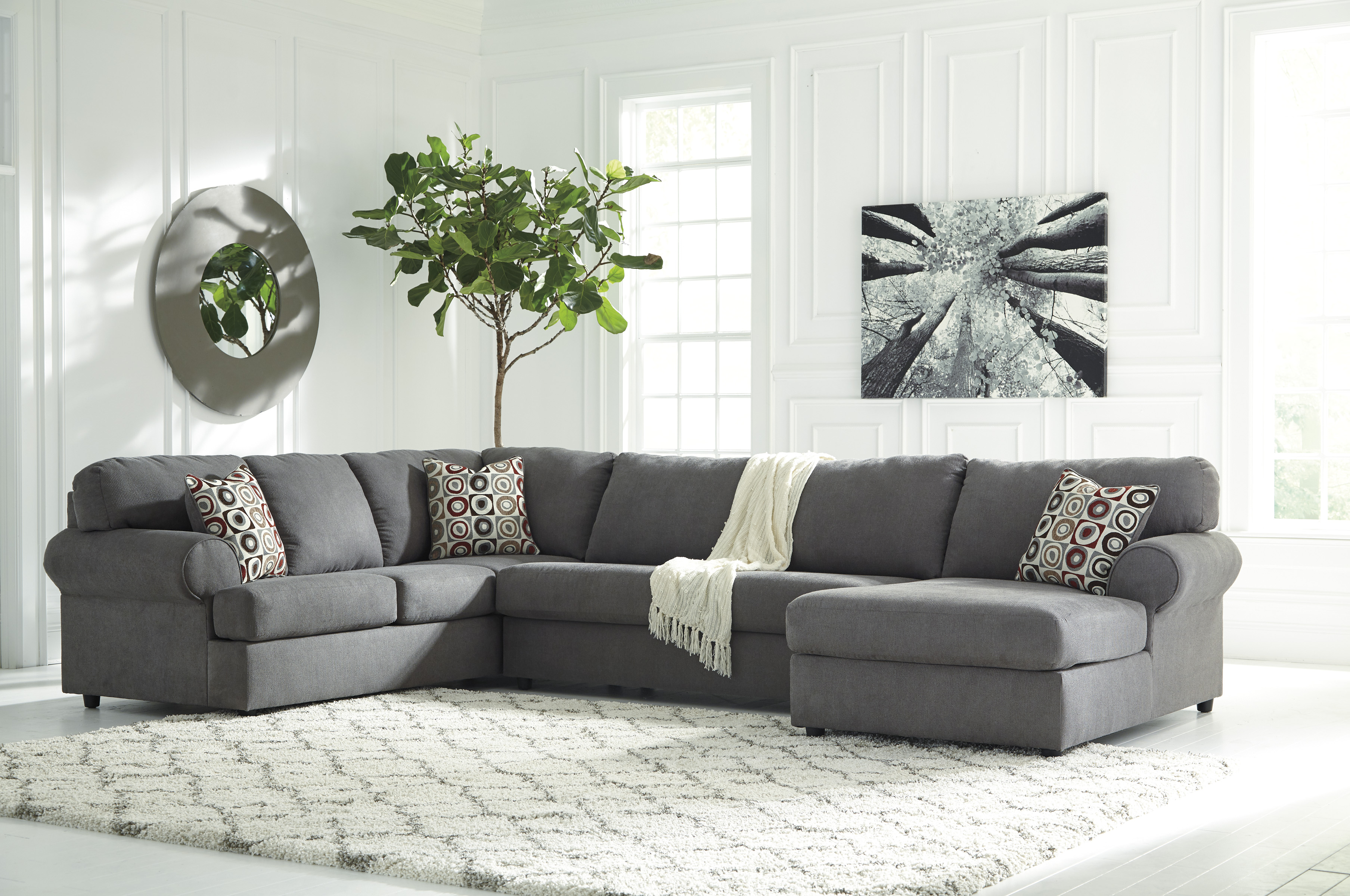 Jayceon Steel Sectional With Right Or Left Side Chaise
