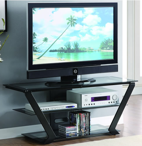 50 Glass Top TV Stand