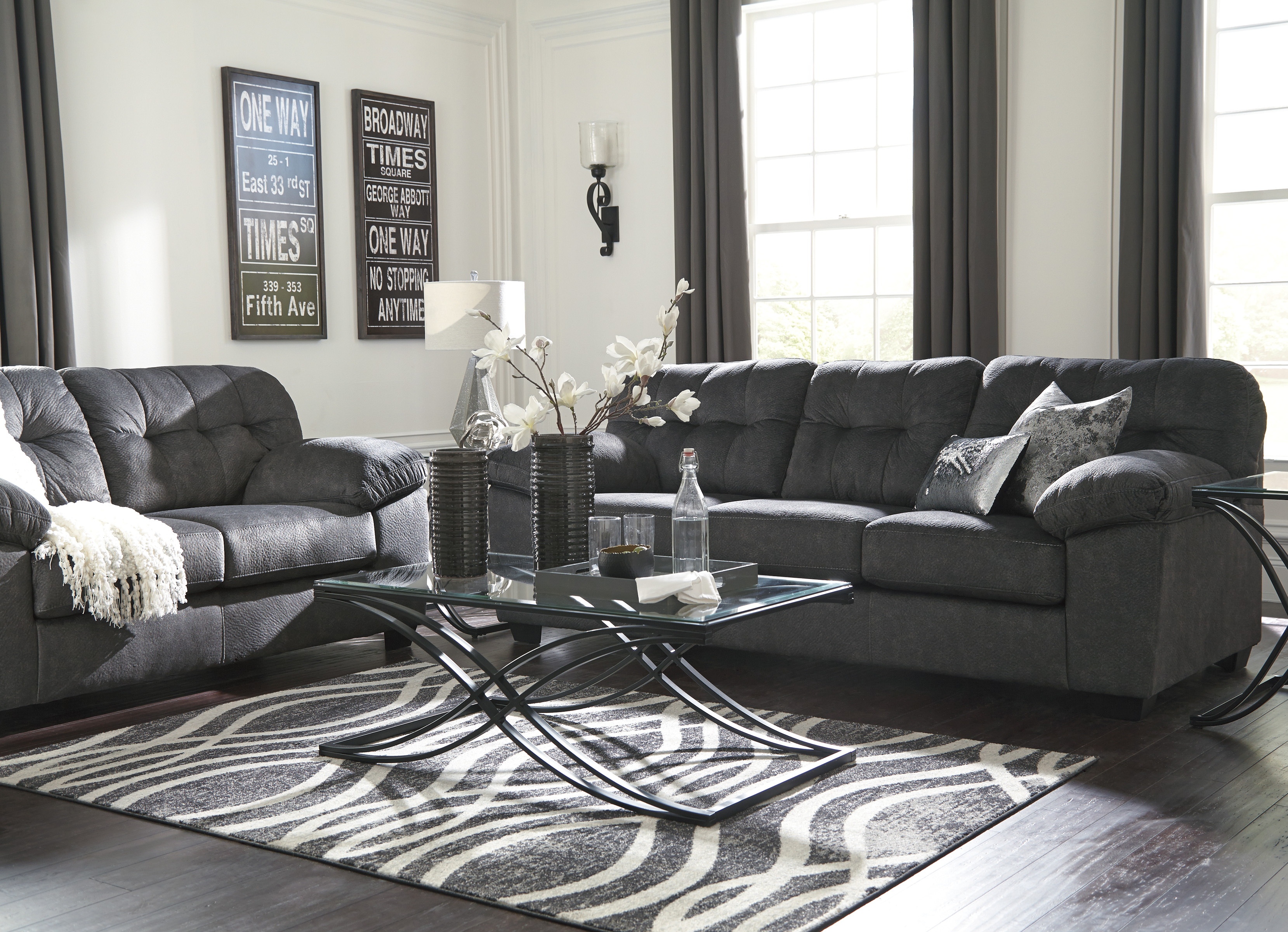 Accrington Granite Living Room Set Sofa And Loveseat Marjen Of Chicago Chicago Discount