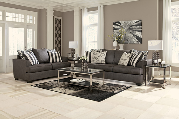 Levon Charcoal Sofa Marjen Of Chicago Chicago Discount Furniture