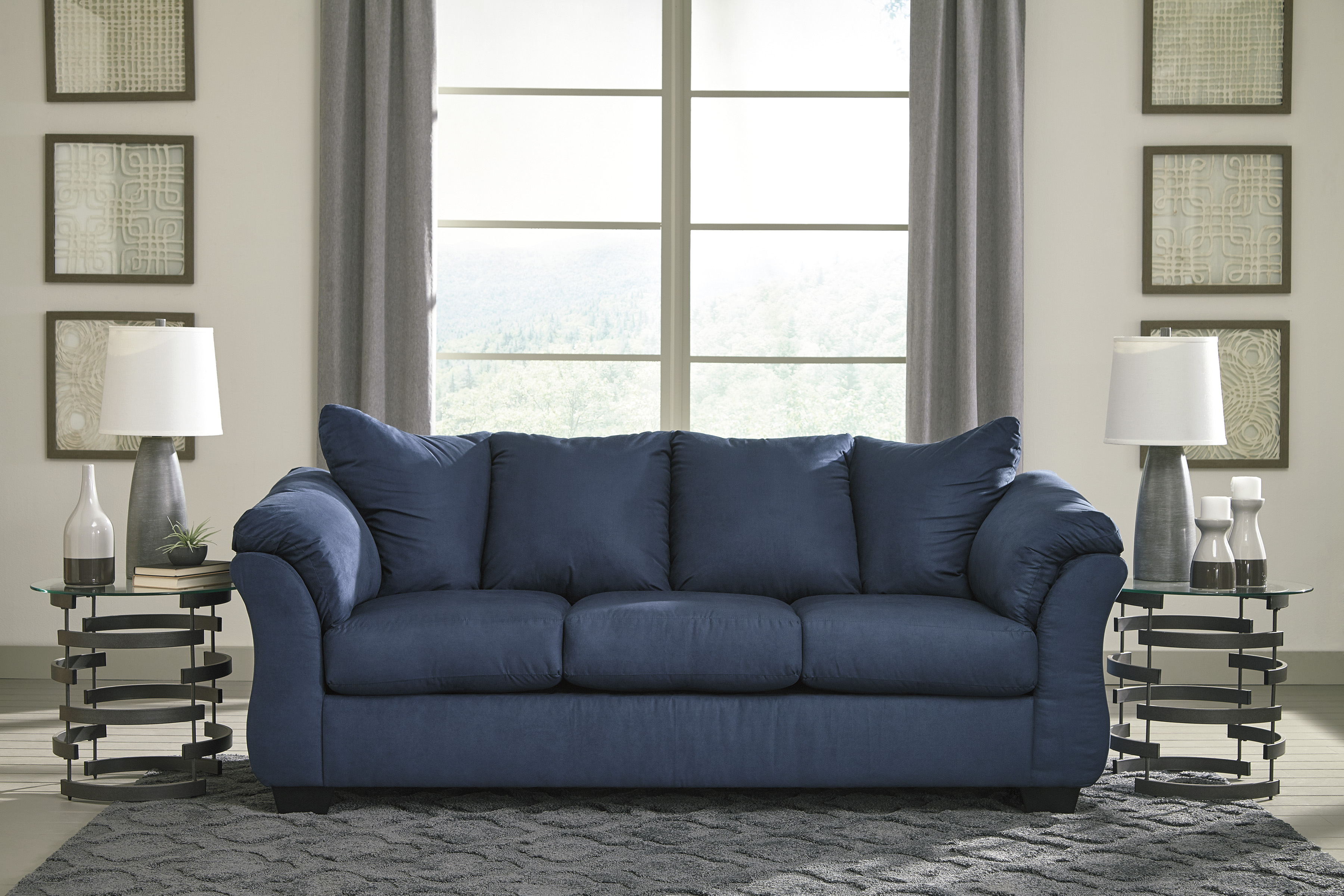 Darcy Blue Sofa & Loveseat Set | Marjen of Chicago | Chicago ...