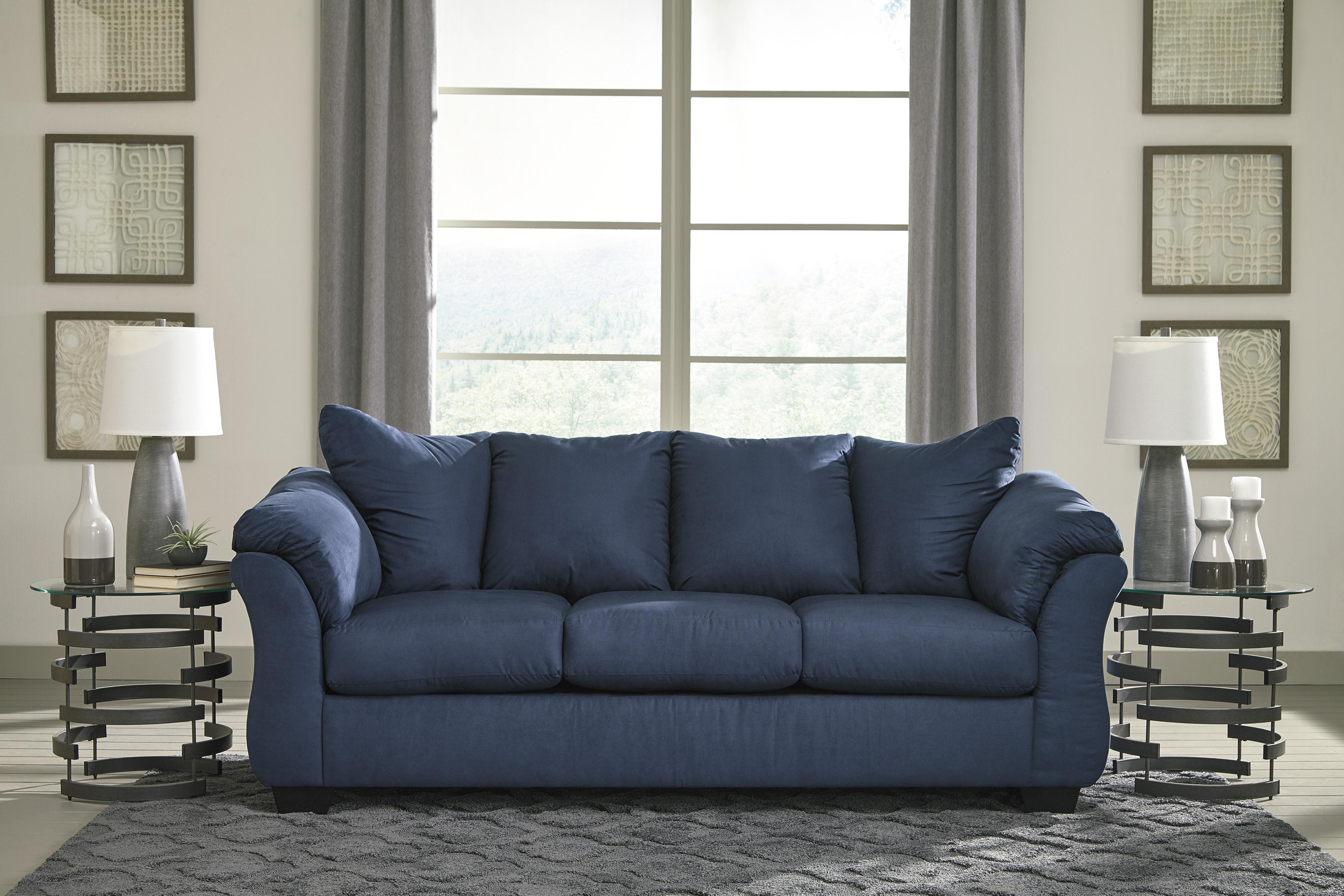 Darcy Blue Sofa Loveseat Set Marjen Of Chicago Chicago  ~ Blue Sofa And Loveseat Sets