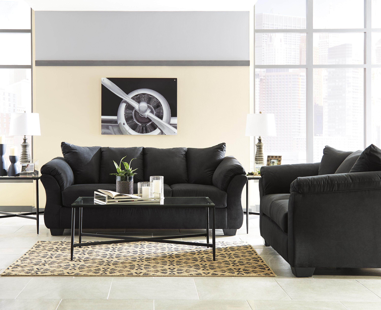 Darcy Black Sofa Amp Loveseat Set Marjen Of Chicago