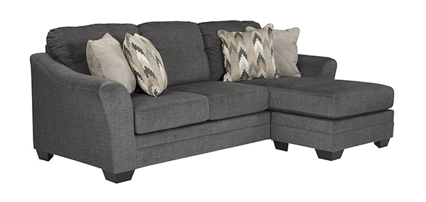 Braxlin Charcoal Queen Sofa Chaise Sleeper Features Easy