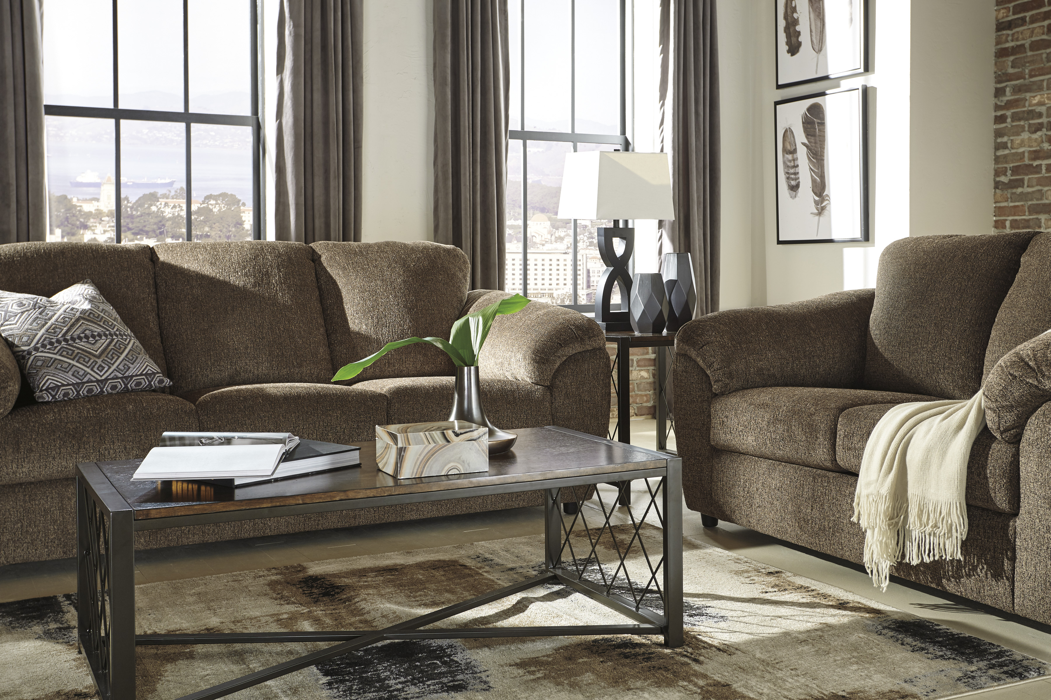 Azaline Umber Full Sofa Sleeper Easy To Lift Mechanism Queen Mattress In Quality Memory Foam