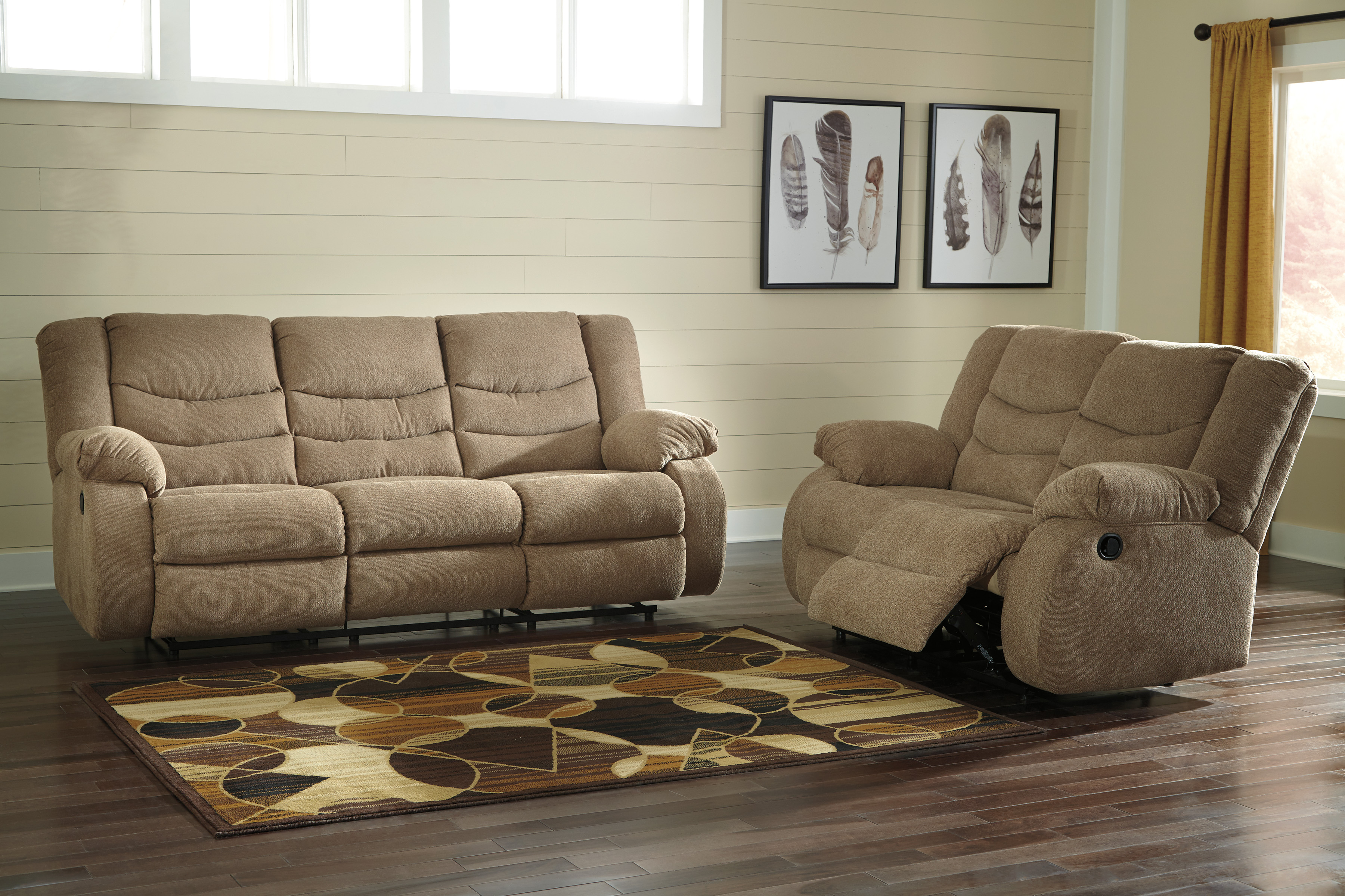 Tulen Mocha Reclining Sofa Free Delivery Clearance Sale
