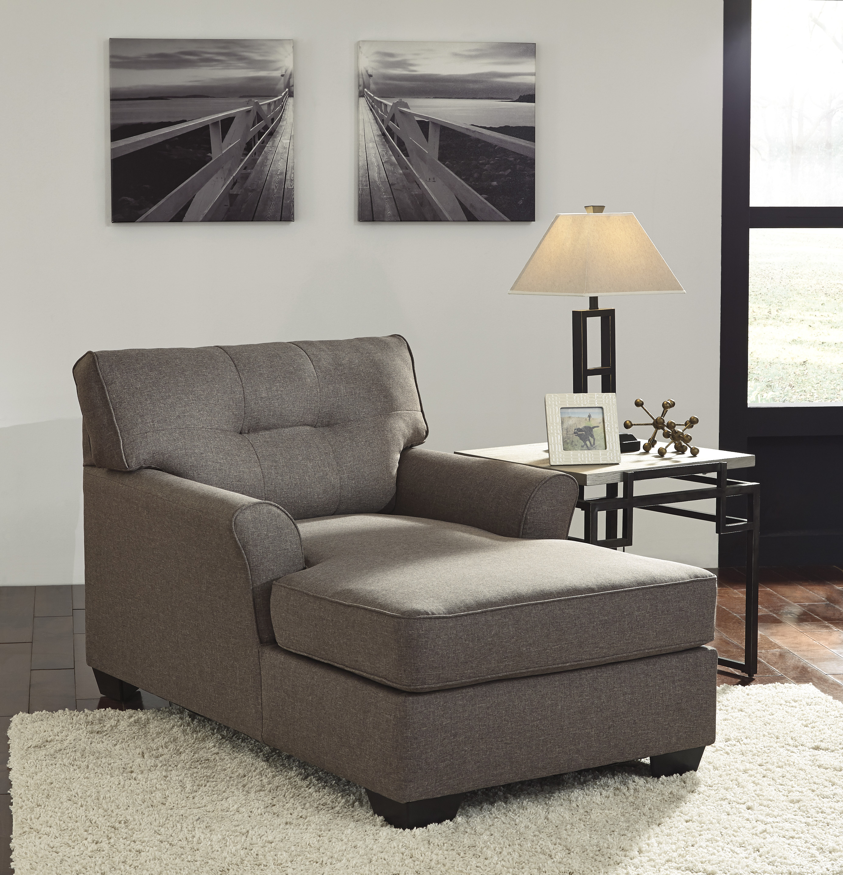 Discount Furniture Websites: Ashley Furniture Tibbee Slate 2pc Living Room Set FREE