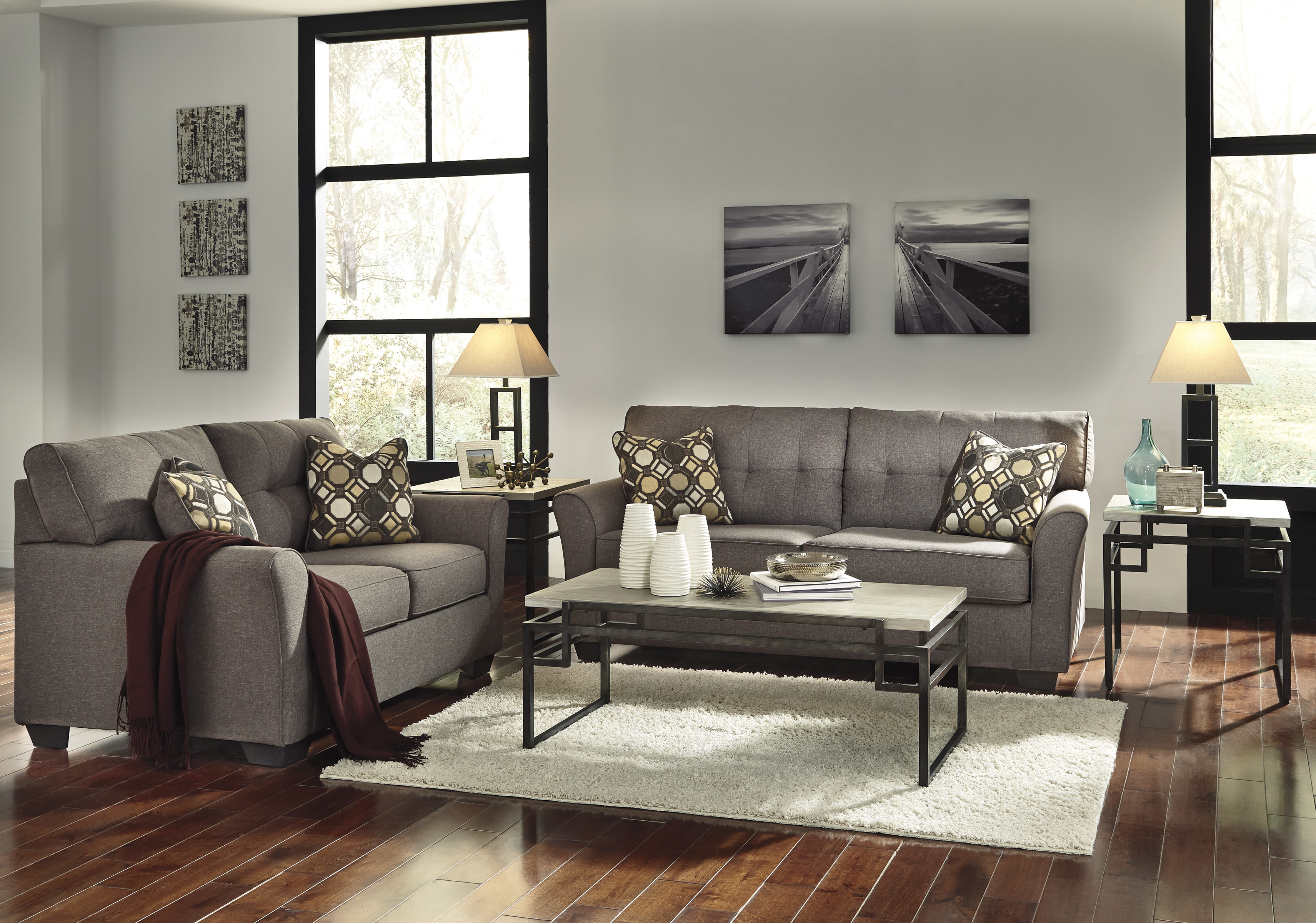Ashley Furniture Tibbee Slate 2pc Living Room Set FREE ...