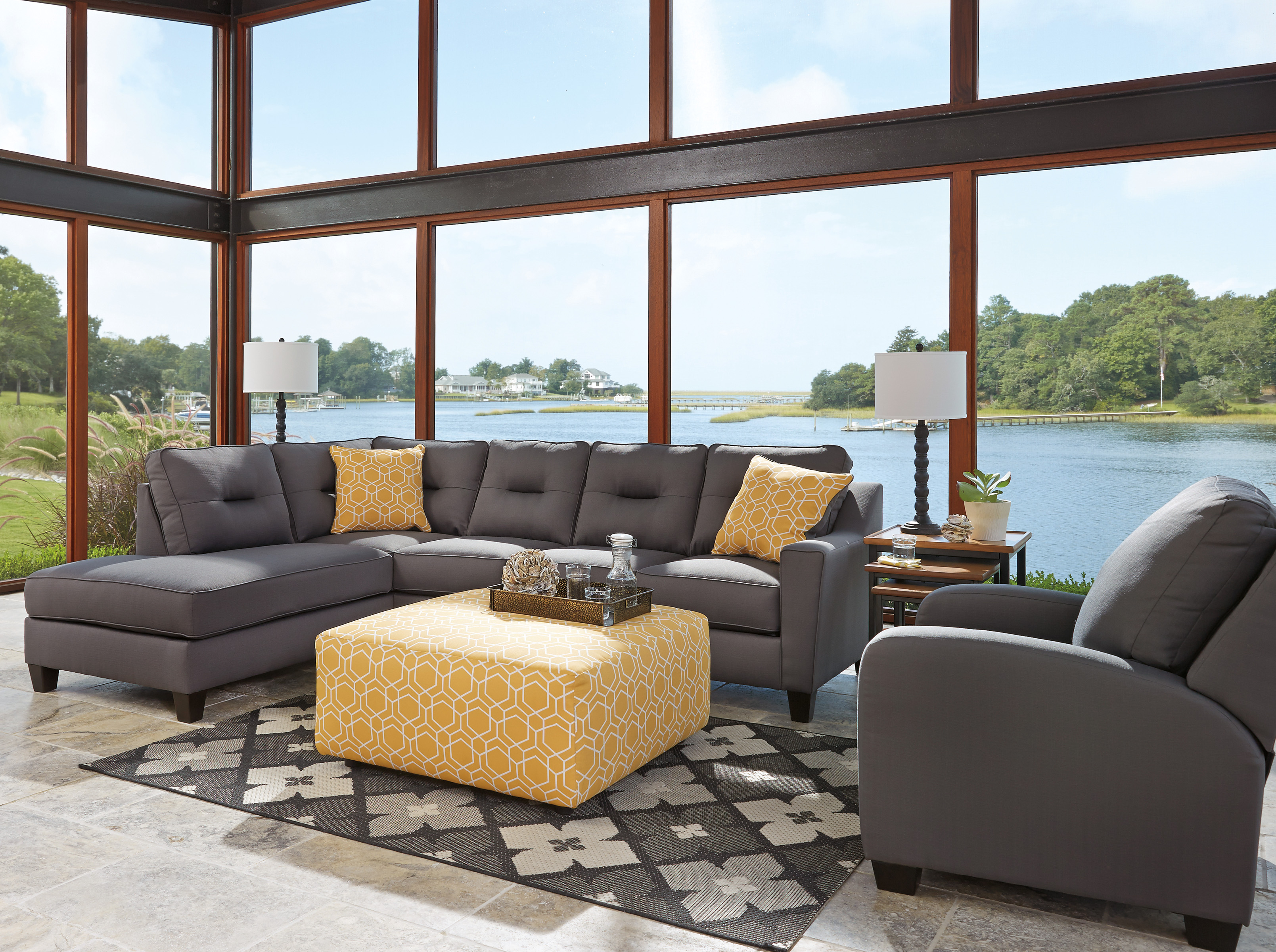 Tremendous Kirwin Nuvella Gray Laf Sectional Marjen Of Chicago Home Interior And Landscaping Palasignezvosmurscom