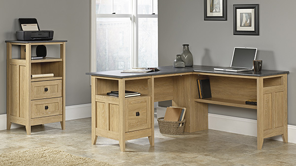 August Hill L Desk Dover Oak Marjen Of Chicago Chicago