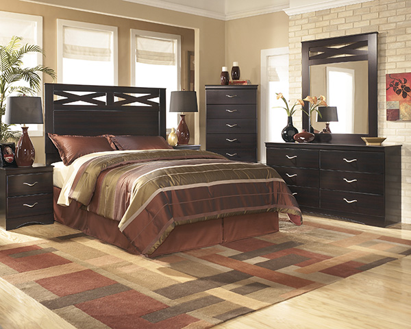 Signature Design By Ashley X Cess Merlot Bedroom Set