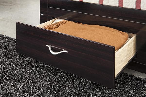 Zanbury Merlot Finish Contemporary Bedroom Set Marjen Of Chicago Chicago Discount Furniture