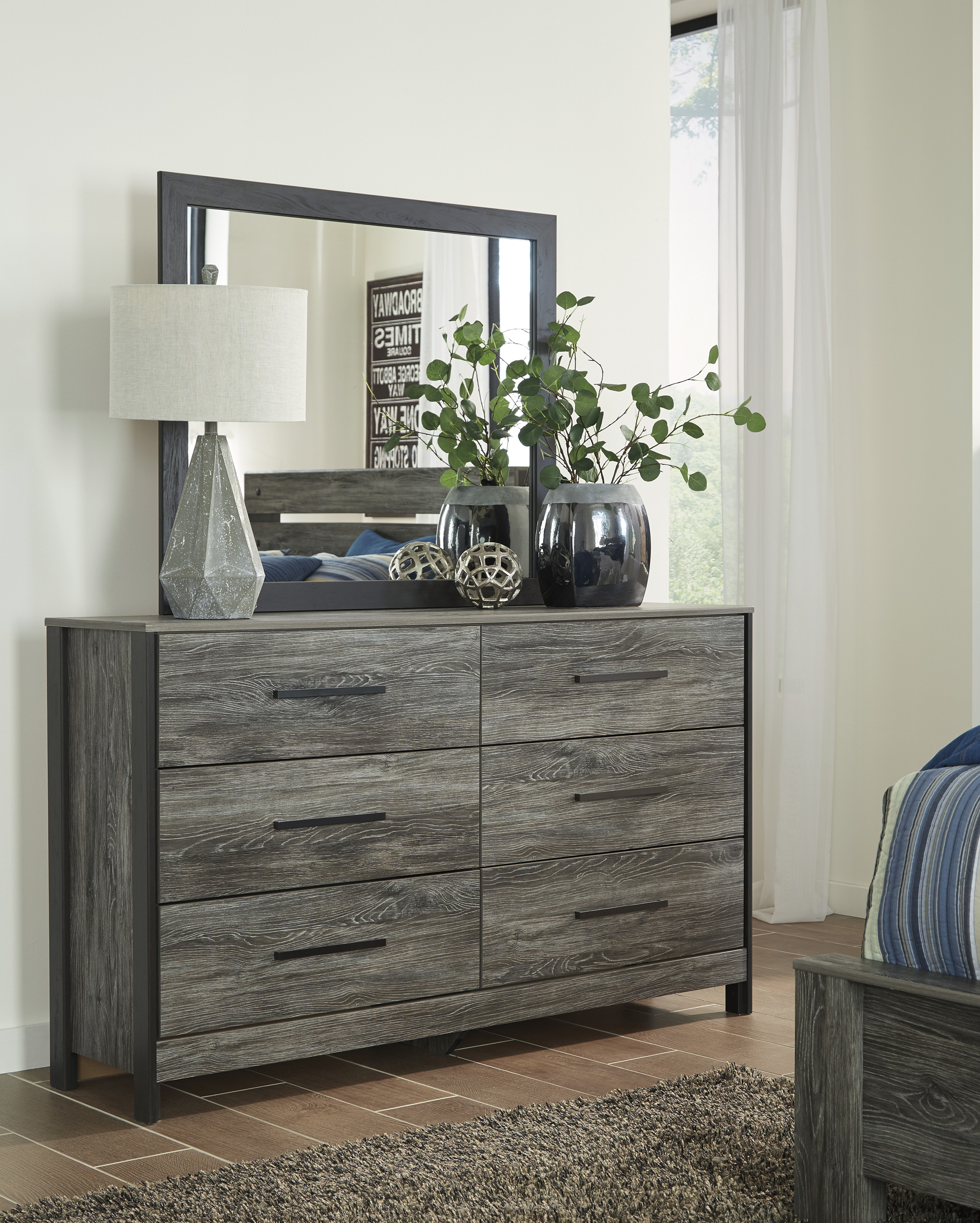 Cazenfeld Black And Gray Dresser