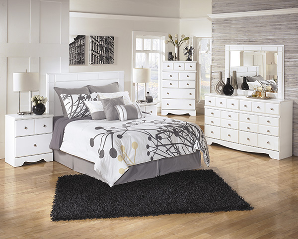 Weeki Modern White Bedroom Set Special | Marjen of Chicago ...