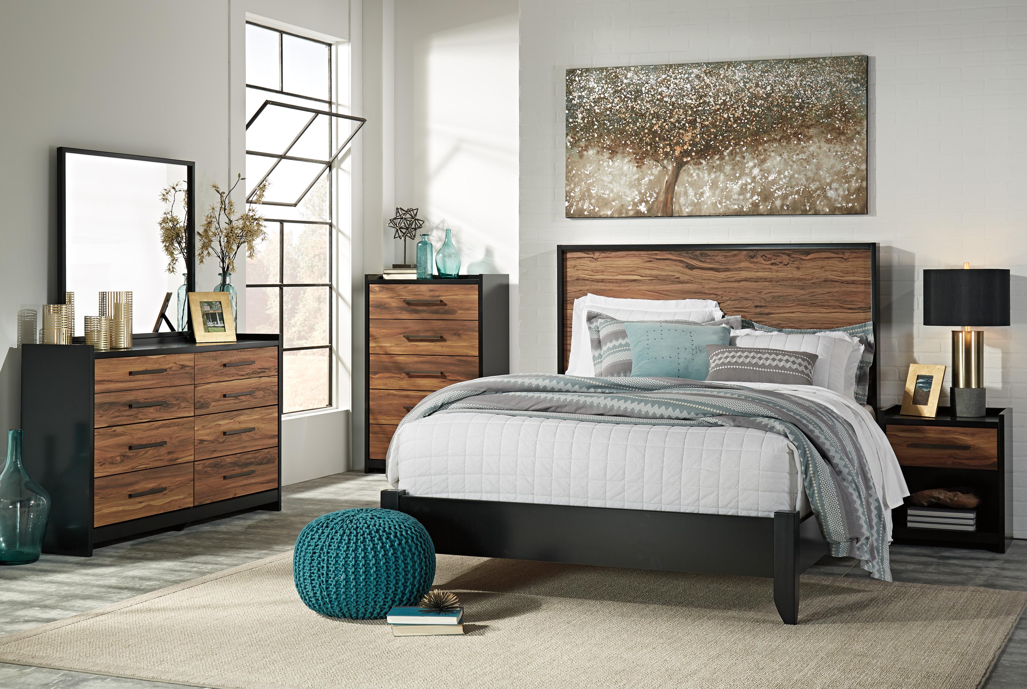 Stavani Black Brown Bedroom Set Marjen Of Chicago Chicago Discount Furniture