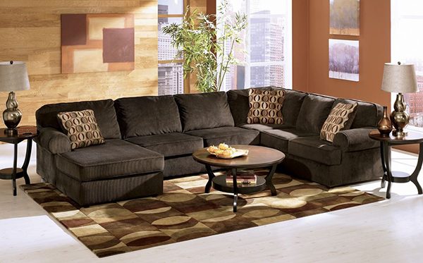 Vista Chocolate Sectional Left Or Right Arm Facing Corner