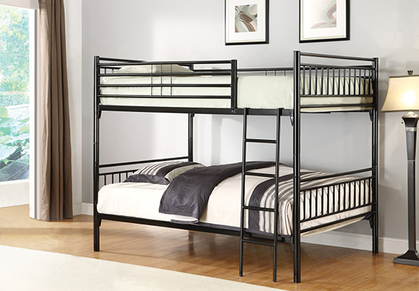 Black Full Over Full Bunk Bed Guaranteed Lowest Price