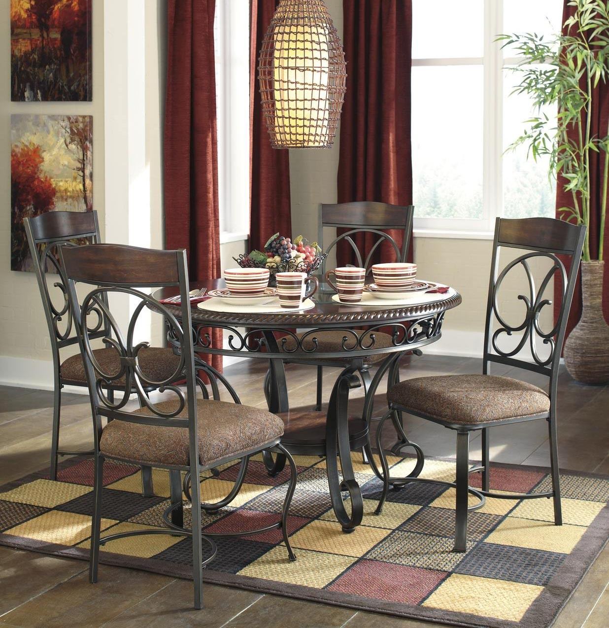 Ashley Furniture Dinette Set: Signature Design By Ashley Glambrey Brown 5 Piece Dining