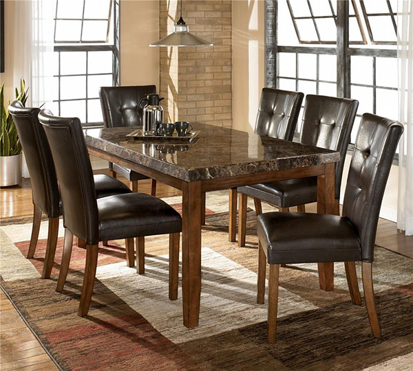 Dining Table Chair: Lacey 5-Piece Dining Table & Chair Set