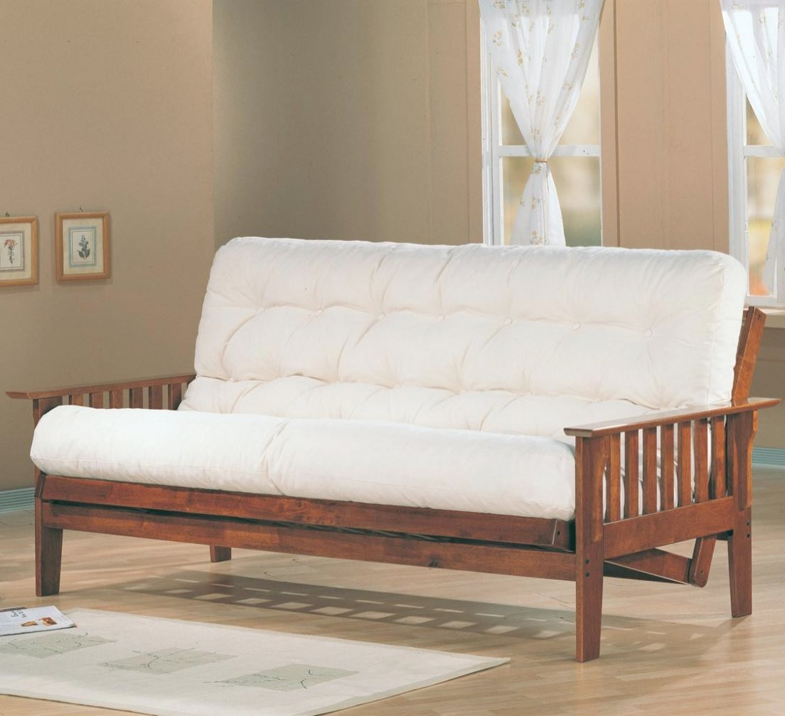 Dirty Oak Deluxe Mission Style Futon Frame