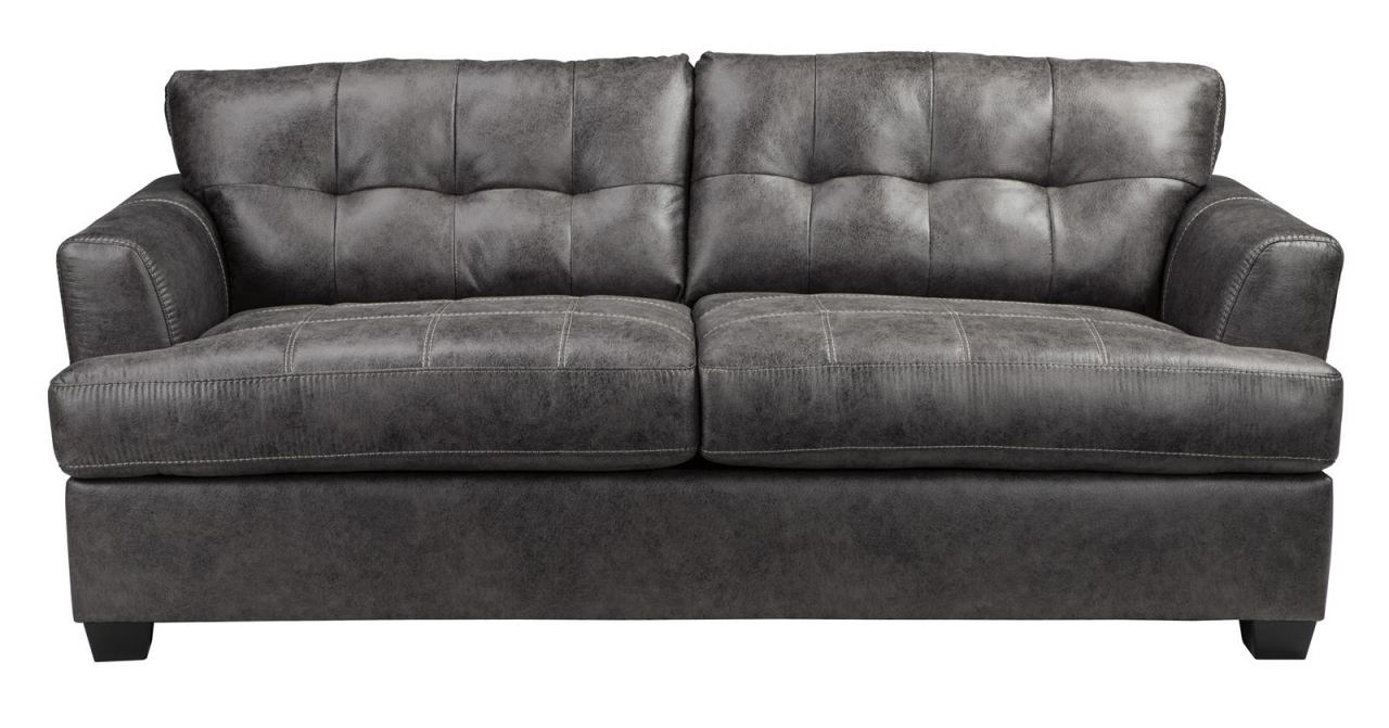 Inmon Charcoal Queen Sofa Sleeper With Memory Foam