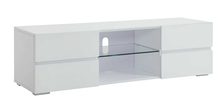 high gloss white glass shelf 4 drawer tv stand marjen of. Black Bedroom Furniture Sets. Home Design Ideas